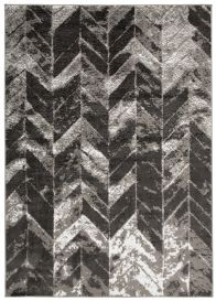 Bali Teppich Kurzflor Modern Grau Dunkelgrau Creme Meliert Vierecke