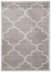 LAZUR Vloerkleed Tapijt Grijs Design Marokkaanse Trellis Duurzaam