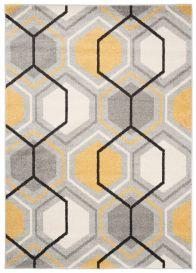 LAZUR Vloerkleed Tapijt Kleurrijk Grijs Design Modern Lijnen Geometrisch