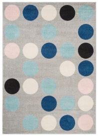 LAZUR Vloerkleed Tapijt Grijs Blauw Kleurrijk Design Geometrisch Cirkel