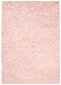 ESSENCE Tapis Moderne Monochrome Rose Epais Poil Longue Shaggy