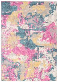 COSMO Modern Area Rug Designer Abstract Multicolour Pink Blue