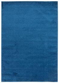 FLORIDA Modern Area Rug Short Pile Plain Navy Blue Carpet