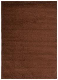 FLORIDA Teppich Kurzflor Braun Einfarbig Modern Design