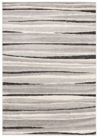 COSMO Modern Area Rug Short Pile Abstract Grey Black Durable