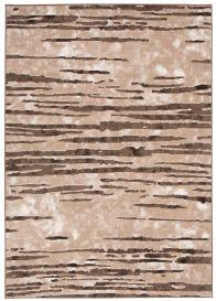 Laila Teppich Modern Kurzflor Braun Hellbraun Dunkelbraun Creme Streifen Abstrakt Meliert Verwischt Design Wohnzimmer Schlafzimmer