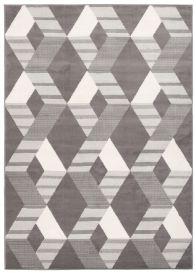 Laila Teppich Kurzflor Modern Grau Beige Creme Figuren Streifen Geometrisch Meliert Design Wohnzimmer Schlafzimmer