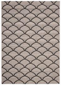 FLOORLUX Teppich Flachgewebe Sisal Schwarz Silber Modern Meliert