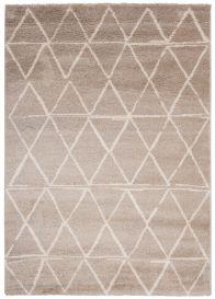 HAVANA Teppich Modern Geometrisch Hellbraun Silber Elfenbein Creme