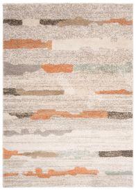 HAVANA Teppich Modern Design Abstrakt Elfenbein Beige Braun Orange