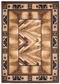 Bali Teppich Kurzflor Beige Braun Creme Meliert Verwischt Streifen