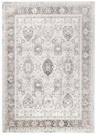 VALLEY Teppich Kurzflor Klassisch Weiß Beige Grau Ornamental