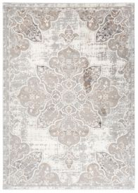 VALLEY Tapis Traditionnel Ornamental Floral Beige Crème Gris Doux