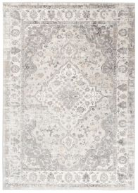 VALLEY Area Rug Traditional Frame Light Grey Multicolour Durable