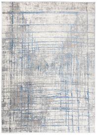 VALLEY Teppich Kurzflor Modern Abstrakt Design Grau Blau Linien