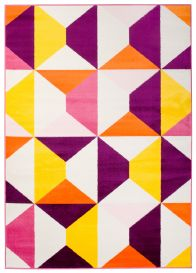 SMILE Area Rug Children Kids Room Play Mat Geometric Abstract Purple