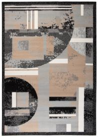 SCARLET DELUXE Area Rug Abstract Grey Beige Shapes Flecked Durable