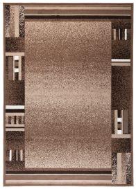 SCARLET DELUXE Tapis Moderne Abstrait Bordé Marron Beige Lisse