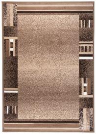 SCARLET DELUXE Tapis Moderne Abstrait Bordé Beige Marron Lisse