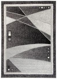 SCARLET DELUXE Tapis Moderne Abstrait Moucheté Gris Anthracite Fin