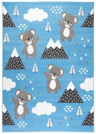 JOLLY Tapis Moderne Jeu Koala Bleu Gris Blanc Doux Fin Résistant
