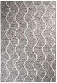 Terazza Teppich Sisal Geometrisch Wellen Grau Creme Beige