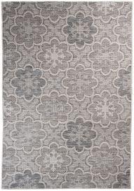 Terazza Teppich Sisal Modern Blumen Schwarz Grau Beige