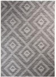 Terazza Teppich Sisal Marokkanisch Karo Schwarz Grau Creme