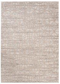 TROYA Area Rug Beige Geometric Abstract Durable Carpet