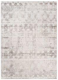 Troya Teppich Kurzflor Modern Ethno Marokkanisch Design Creme