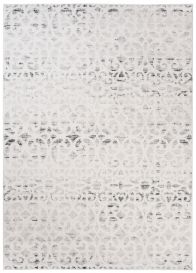 Troya Teppich Modern Marokkanisch Gitter Floral Ecru Beige