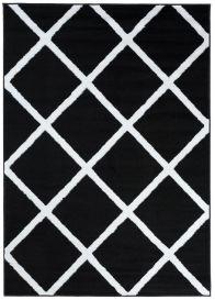 LUXURY Vloerkleed Zwart Design Geometrisch Interieur Sfeervol