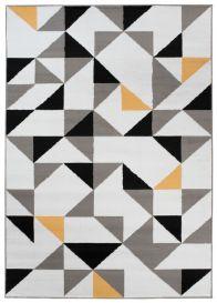 MAYA Vloerkleed Wit Grijs Eyecather Driehoeken Geometrisch Design