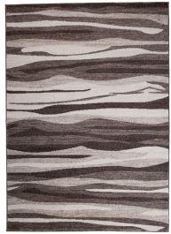 Teppich Sari Kurzflor Modern Grau Braun Verwischt Wellen Wohnzimmer Schlafzimmer